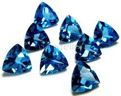 Swiss Blue Topaz Faceted Trillion Gemstones