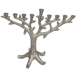 Aluminium Menorah Candle Holder