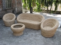 Oval Cane Sofa Set