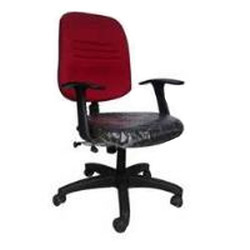 Red and Black Staff Chair