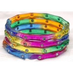 Colored Stone Bangles