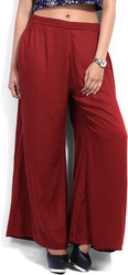 Tan Palazzo Pants Trousers for Ladies
