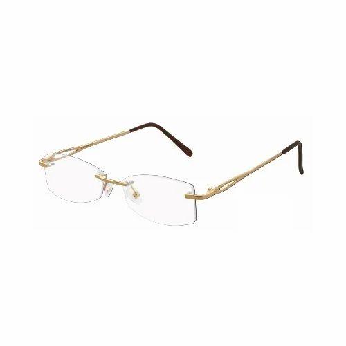 0792ade1aaf Supra Rim Less Optical Gold Spectacles Frame - Balaji Exim