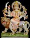 Indian Goddess Marble Durga Statue