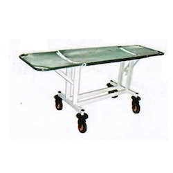 On Trolley Stretcher, For Hospital, Stainless Steel