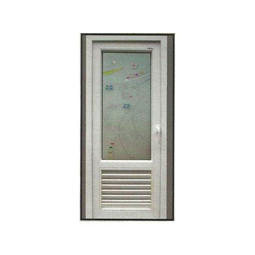 Brown And White Aluminum Bathroom Door With Glass Panel Size/Dimension 5*  sc 1 st  IndiaMART : washroom doors - pezcame.com