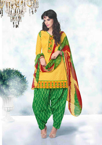 57a14ca8a8 Designer Patiala Suit in Yellow color