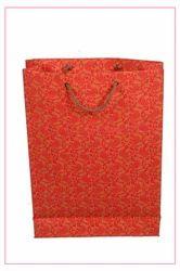 橙色印刷手工纸袋