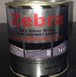 Solvent Base Retroreflective Safety Paints, Packaging Type: Can, 3 Hours