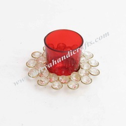 Red Tea Light Glass
