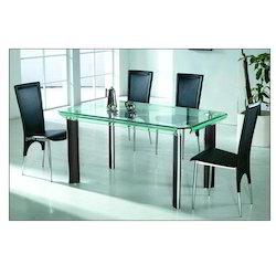 Bend Glass Dining Table 1 4Glass Dining Table in Hyderabad  Telangana   Manufacturers  . Glass Dining Table With 4 Chairs In Hyderabad. Home Design Ideas