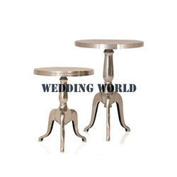 Standard wooden Gold Color Metal Table