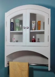 White Wooden Bathroom Wall Cabinet