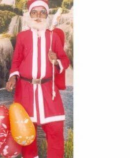 Santa clause shows his cock