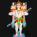 Colored Marble Hanuman Statue with Ram Laxman