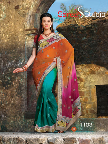 4979d64d3e Heavy 3 Bridal Saree at Rs 3000 /piece(s) | Kankurgachi | Kolkata ...