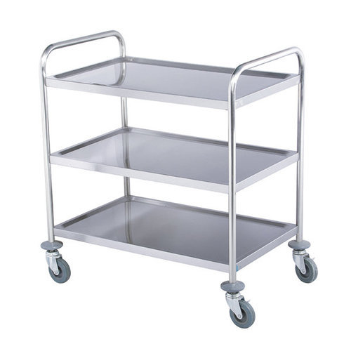 3-Layer Stainless Steel Trolley