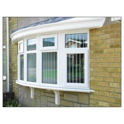 White Modern UPVC Bow Window