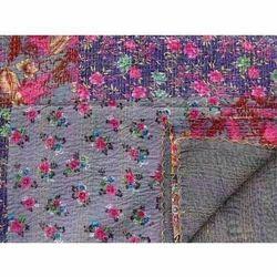 Floral Kantha Quilt