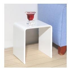 White Acrylic Side Table