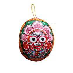 Multicolor Painted Coconut Shell, Size/Dimension: 5