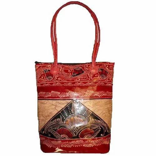 41e904ca797f Ladies Leather Handbags - Batik Shopping Bag Exporter from Kolkata