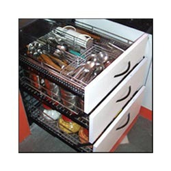 Stainless steel kitchen trolleys and stainless steel for Designs of kitchen trolleys