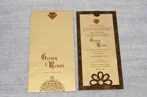 Single Sheet Invitation Cards Single Invitation Cards Exporter