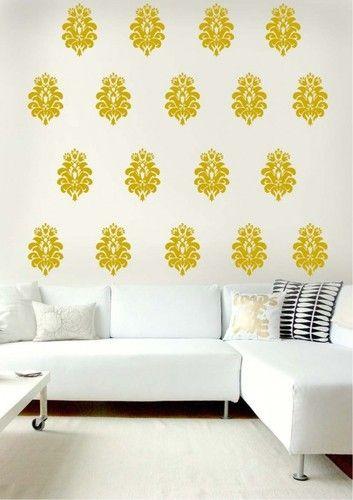 Wall Motif Graphics Vertical Flower Motifs Wall Graphics