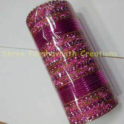 Color Cutting Metal Bangle Set