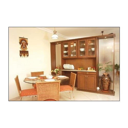Pvc L Shape Modern Modular Kitchen Rs 850 Square Feet: Crockery Wall Units Wholesaler From Hyderabad