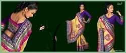 Designer Saree with Unstitched Blouse Piece