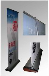 Polyester White Printed Poster Display Standee for Promotional