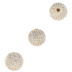 Chic Designs Diamond Gold Ball Bead Findings, Size: 10 mm