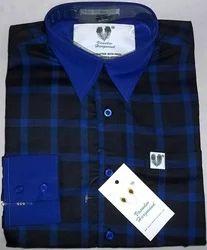 Dark Blue Checks Executive Formal Shirt