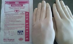 Medi Ster White and Blue Non Sterile Powder Free Latex Surgical Gloves