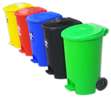 Plastic Dustbins Plastic Dustbin With Wheels And Pedal