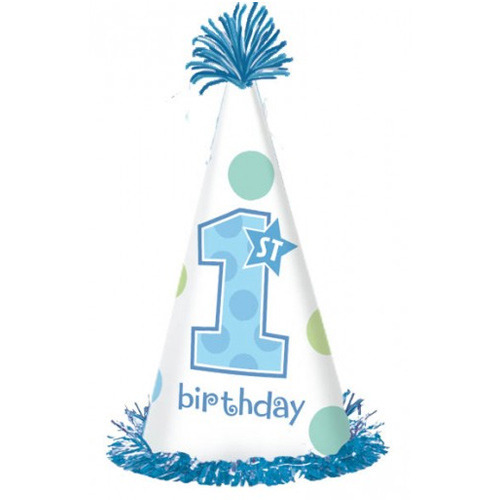 Amscan Fun To Be One 1st Birthday Boy Paper Cone Hat
