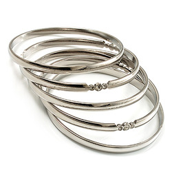 ladies sterling amazon uk bangle bangles plain dp silver elements co