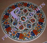 Round Circular Inlay Table Top