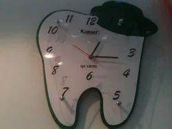 White Plastic Dental Wall Watch