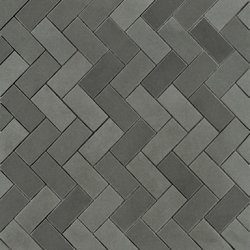 Luxor Grey Mosaic Herringbone Tile