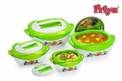 Fluidic Casserole Set Of 4 Pcs Green Colour
