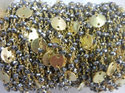 Pyrite Gold Plated Sterling Silver Disk Chain