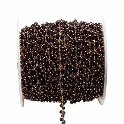 Smoky Quartz Gemstone Cluster Chain