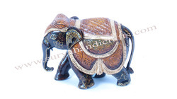 Wooden Elephant With Antique Finish