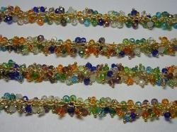 Multi Quartz Wire Wrapped Gemstone Cluster Chain