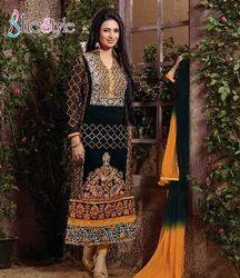 Embroidered Pure Georgette Salwar Kameez