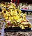 High Quality Lord Ganesh Gold Statue Show Piece Idol Gift Ga