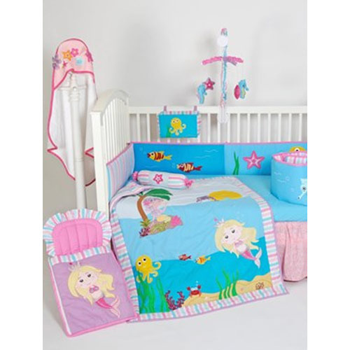 Crib Bedding And Accessories Mermaid Crib Set Exporter